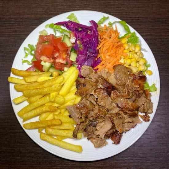 Assiette kebab frites