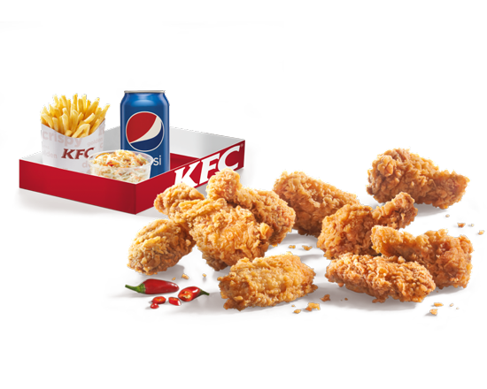 Menu 9 Hot Wings Box