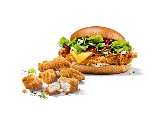 Burger Gourmet BBQ & 6 Filet Bites