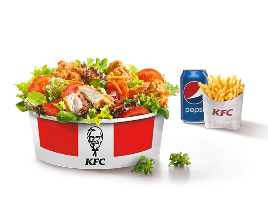 Menu Salade avec 4 Filet Bites