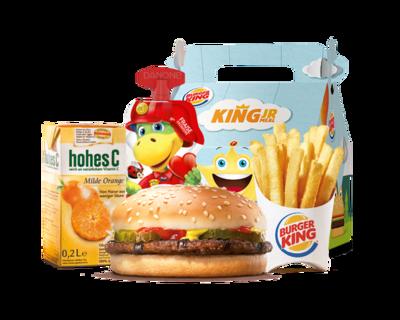 King Junior Meal Hamburger
