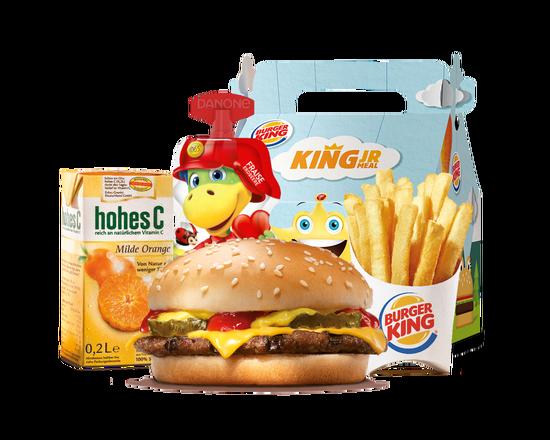 King Junior Meal Cheeseburger