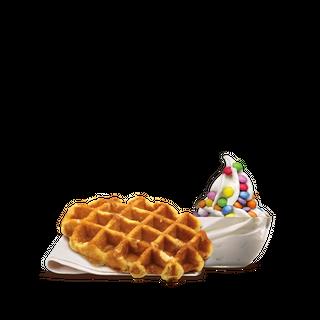 Smarties Waffle and Ice Cream
