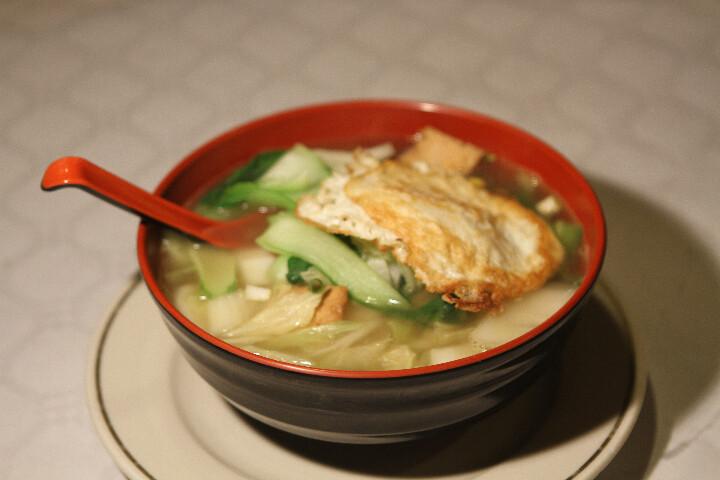 Soupe Légumes Variés avec Oeuf