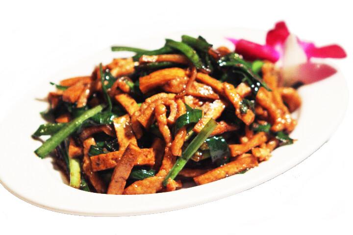 Lamelles de Porc Sautés Ciboulette Chinoise & Tofu