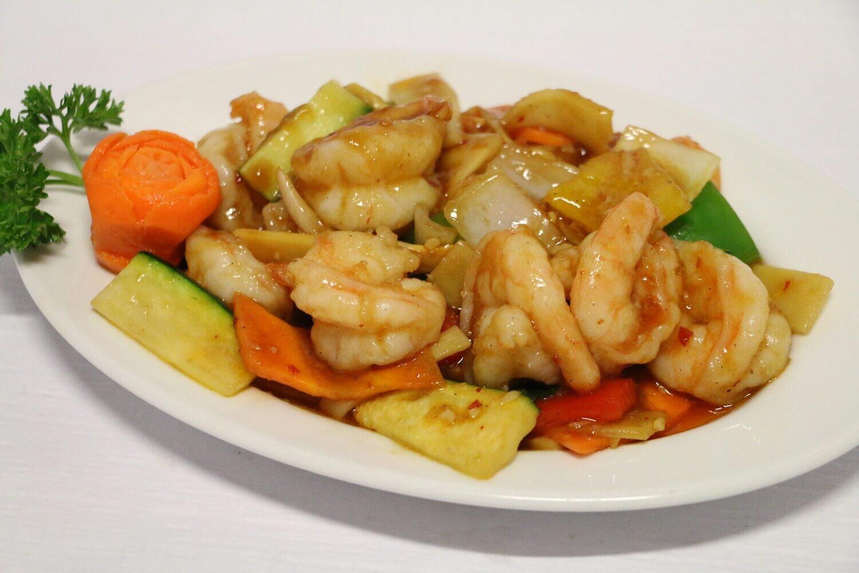 Crevettes à la Sauce Sichuan