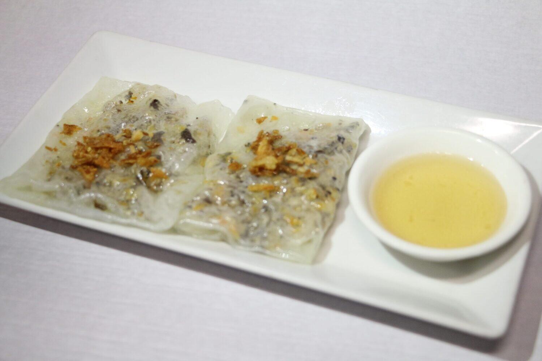 Crêpes de Riz aux Crevettes & Porc & Champignons Noirs