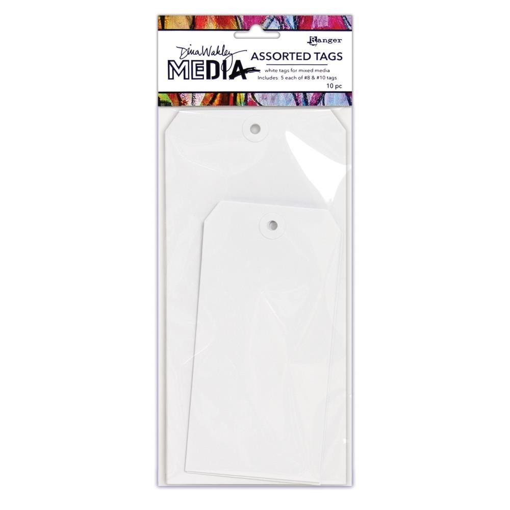 Dina Wakley Media Tags Bulk #10 50/pkg