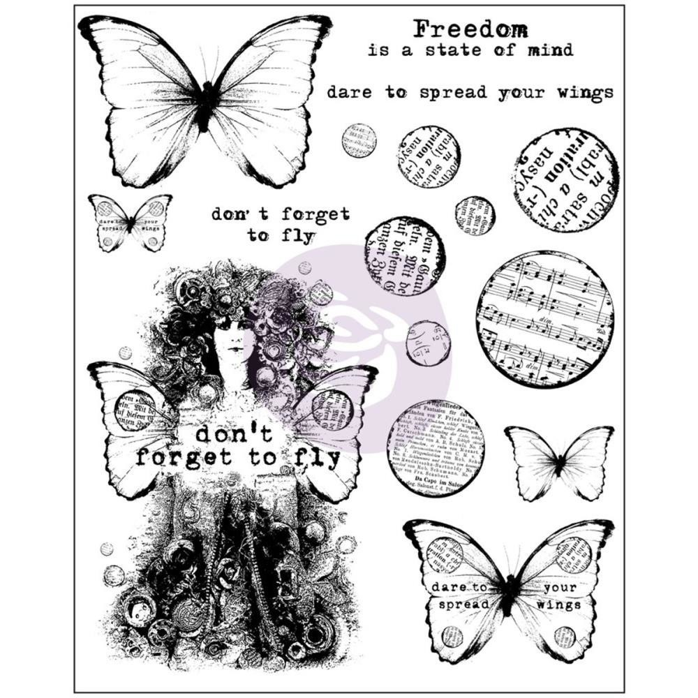 "Finnabair Cling Stamps 6""X7.5"" Don't Forget to Fly"