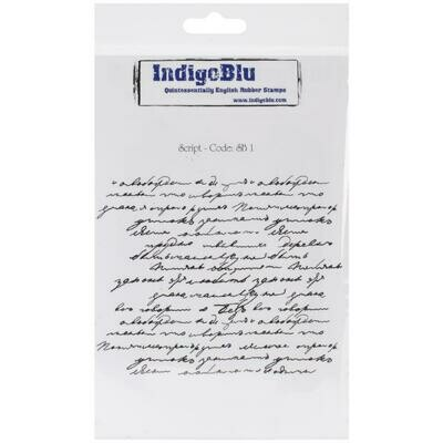 IndigoBlu Cling Mounted Stamp Script