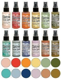 PREORDER Tim Holtz Distress Oxide Sprays set 4 released September 2019
