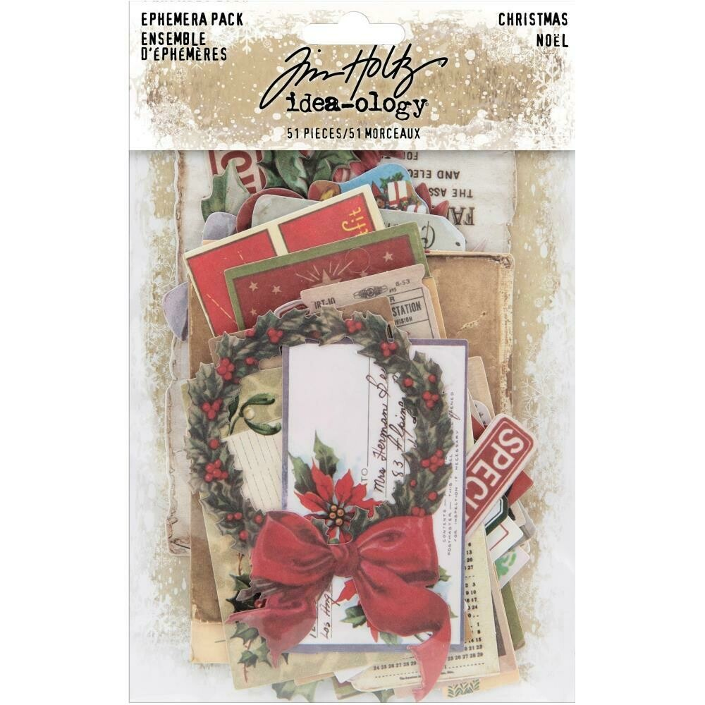 Tim Holtz Idea-Ology Ephemera Christmas Noel