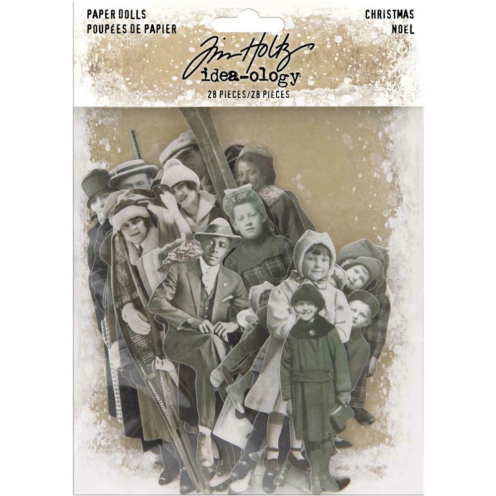Tim Holtz Idea-Ology Paper Dolls Christmas Noel