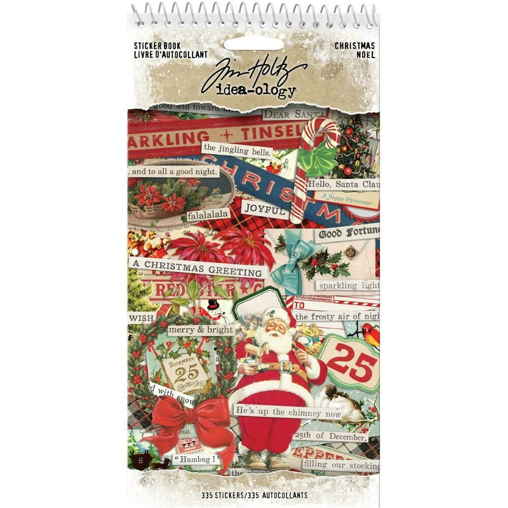 Tim Holtz Idea-Ology Sticker Book Christmas Noel