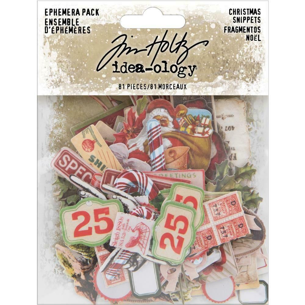 Tim Holtz Idea-Ology Snippets Christmas Noel