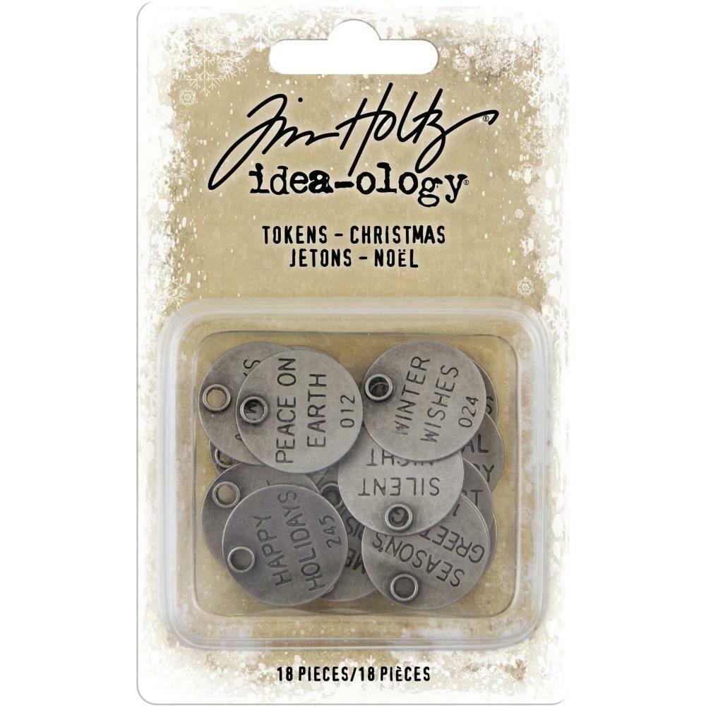 Tim Holtz Idea-Ology Tokens Christmas