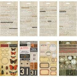 Tim Holtz Idea-Ology Stickers Curiosities