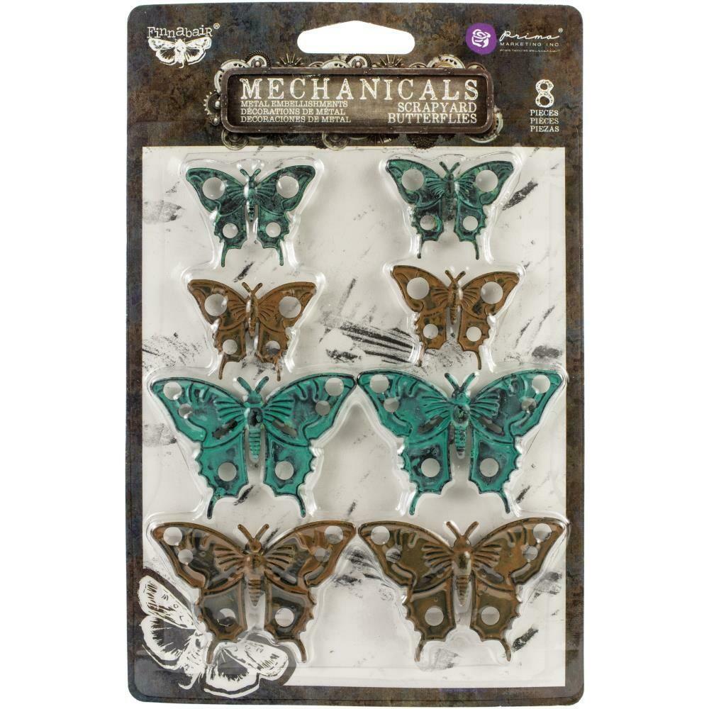 Finnabair Mechanicals Metal Embellishments Scrapyard Butterflies