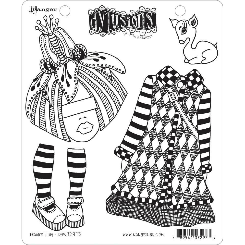 Dyan Reaveley's Dylusions Cling Stamp Maisie Lilly