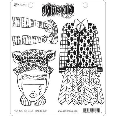 Dyan Reaveley's Dylusions Cling Stamp The Ties The Limit!