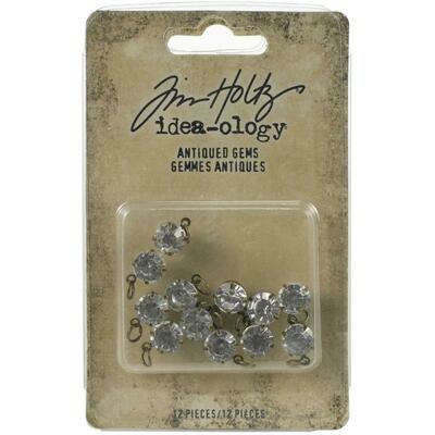 Tim Holtz Idea-Ology Metal Adornments Antiqued Gems
