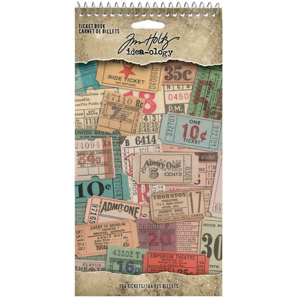 Tim Holtz Idea-Ology Stickers Ticket Book