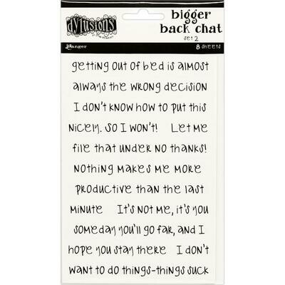 Dyan Reaveley's Dylusions Bigger Back Chat Stickers White Set #2
