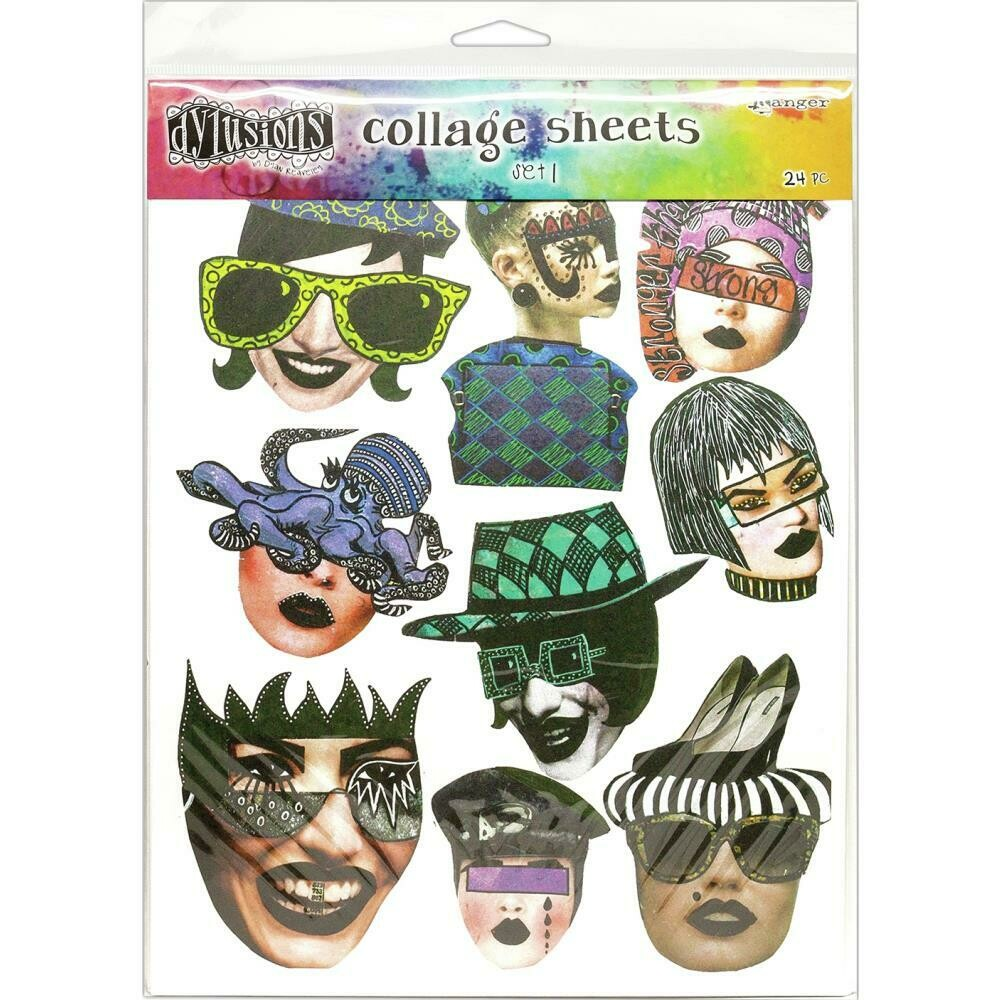 "Dyan Reaveley's Dylusions Collage Sheets 8.5""X11"" Set 1"