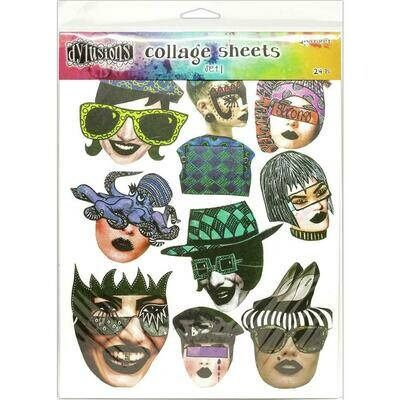 """Dyan Reaveley's Dylusions Collage Sheets 8.5""""X11"""" Set 1"""