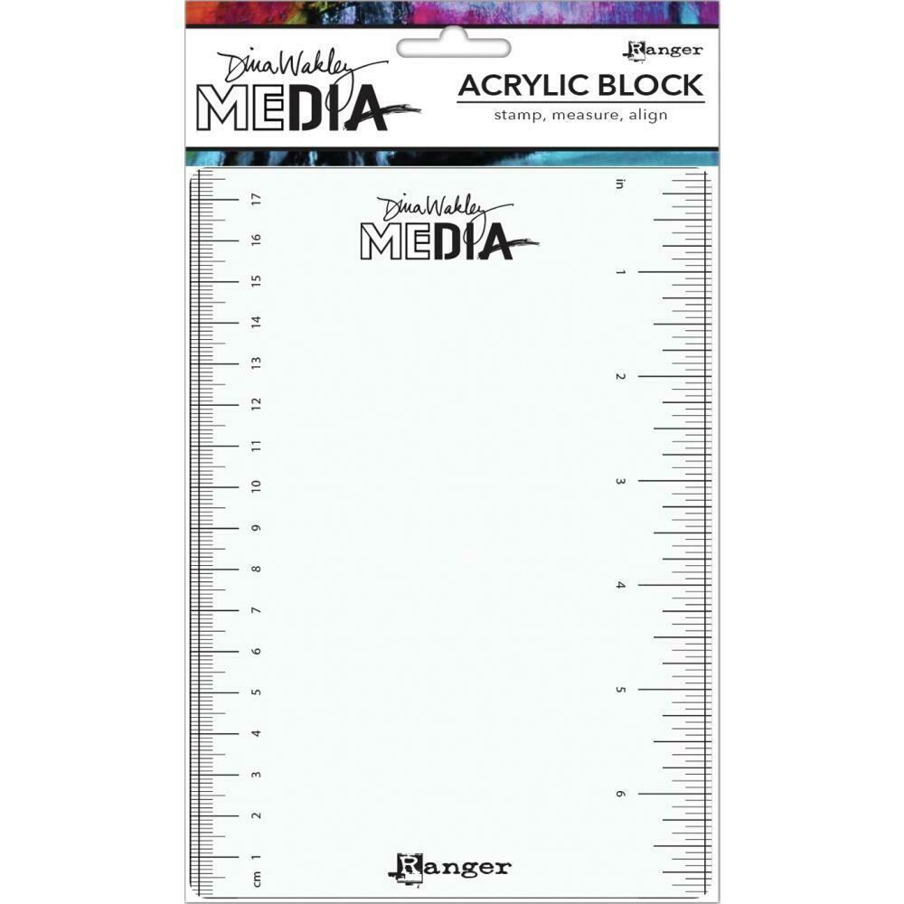 "Dina Wakley Media Stamping Block 5""X7"""