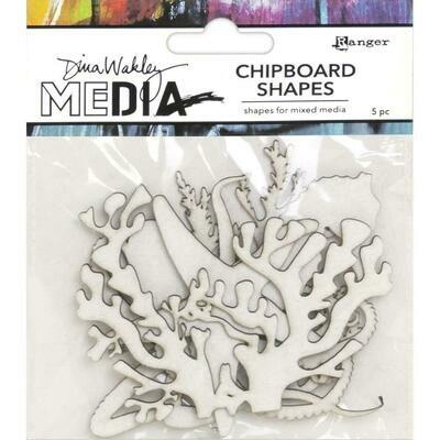 Dina Wakley Media Chipboard Shapes Ocean