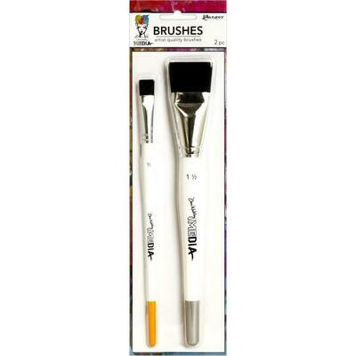 "Dina Wakley Media Stiff Bristle Brushes 1.5"" & .5"""