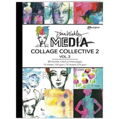 Dina Wakley Media Mixed Media Collage Collective 2 Vol 2