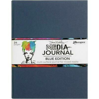 "Dina Wakley Media Journal 8""X10"" Blue Edition"