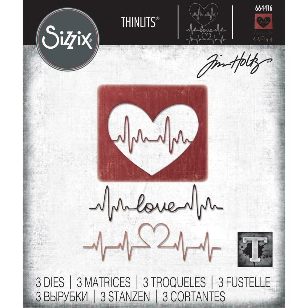 Tim Holtz Sizzix Thinlits Dies Heartbeat