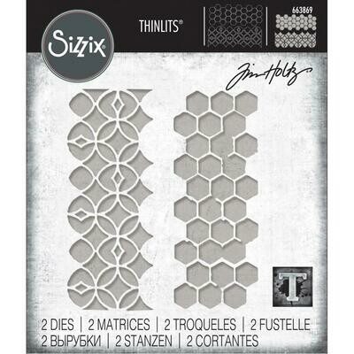 Tim Holtz Sizzix Thinlits Dies Pattern Repeat
