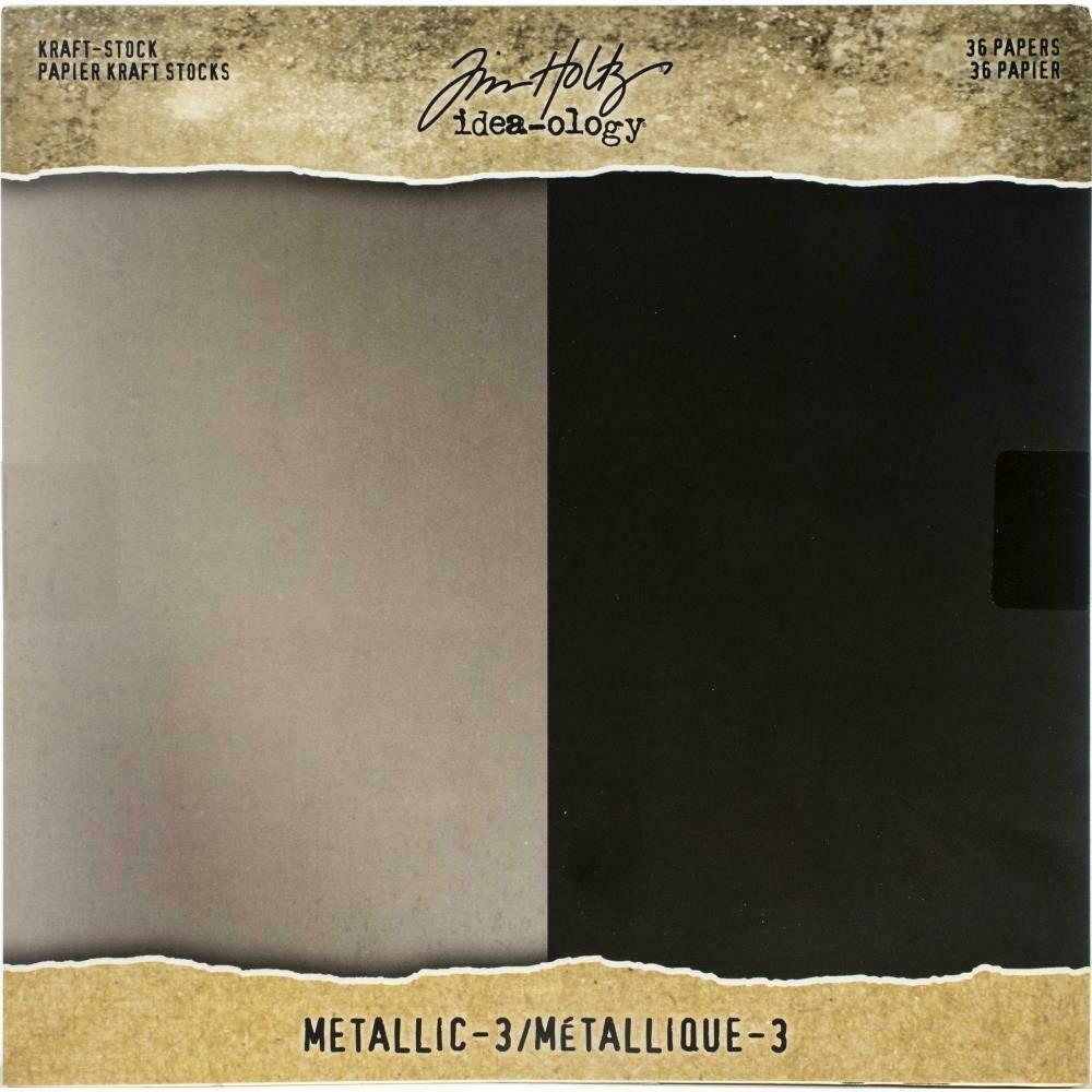 Tim Holtz Idea-Ology Kraft Cardstock Metallic 3