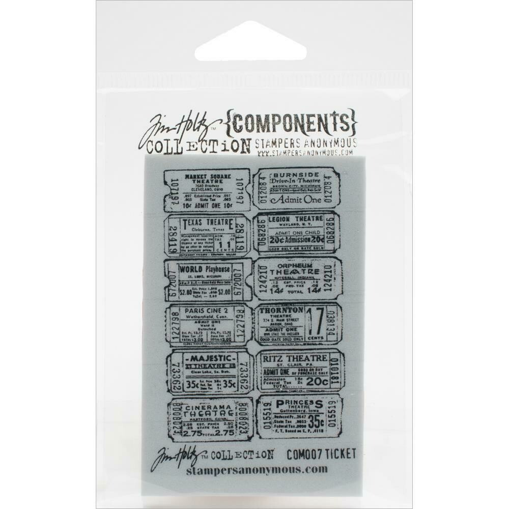 """Tim Holtz Cling Stamps 2.5""""X3.5"""" - Assorted"""