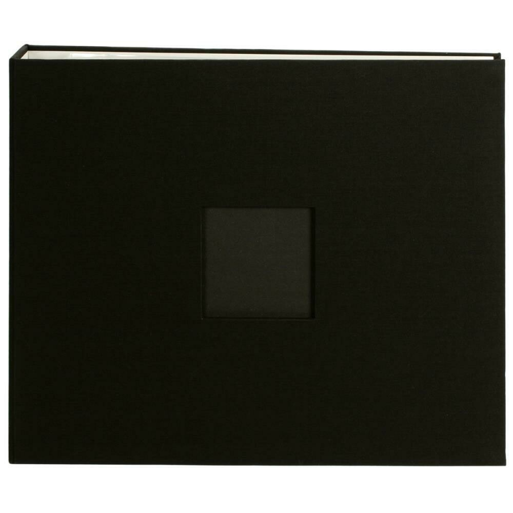 "American Crafts D-Ring Cloth Album w/Window 12""X12"""