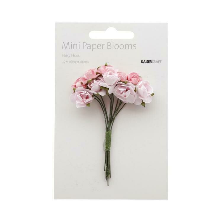 Kaisercraft Mini Paper Blooms Assorted