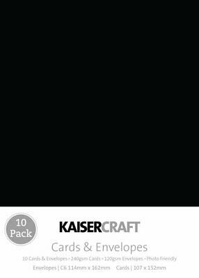 Kaisercraft Card Pack Black