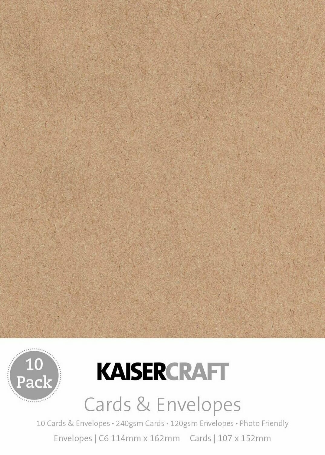 Kaisercraft Card Pack Kraft