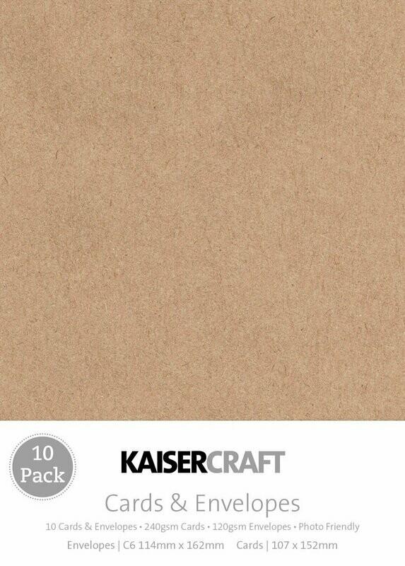 Kaisercraft Card Pack Kraft