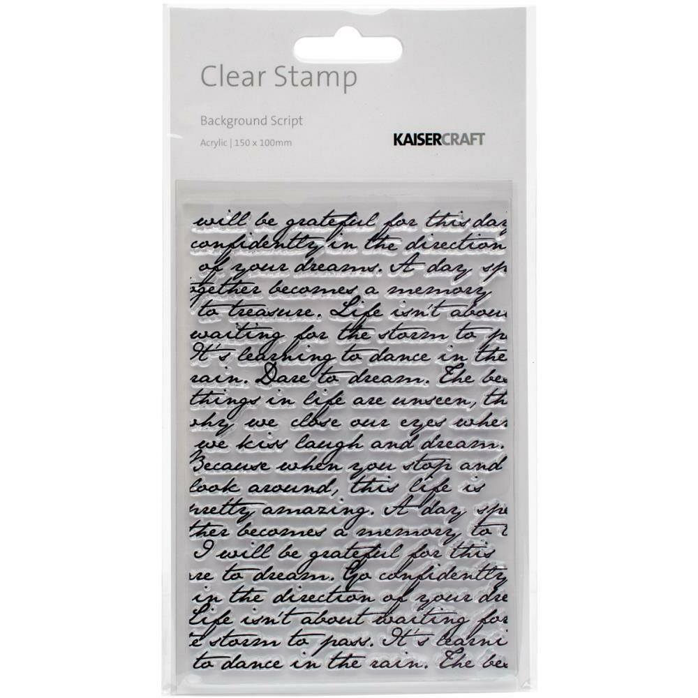 "Kaisercraft Story Book Clear Background Stamp 4""X6"""