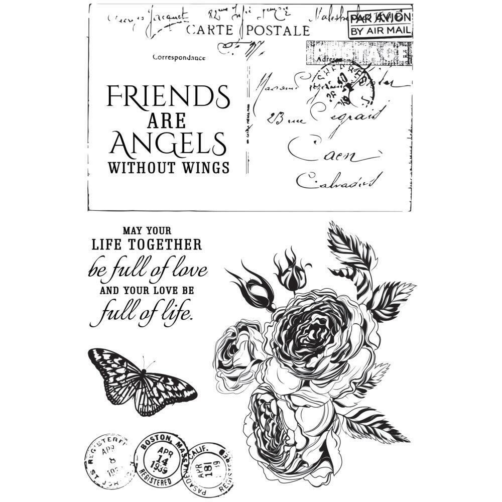 "Kaisercraft Rose Avenue Clear Stamps 6""X4"""