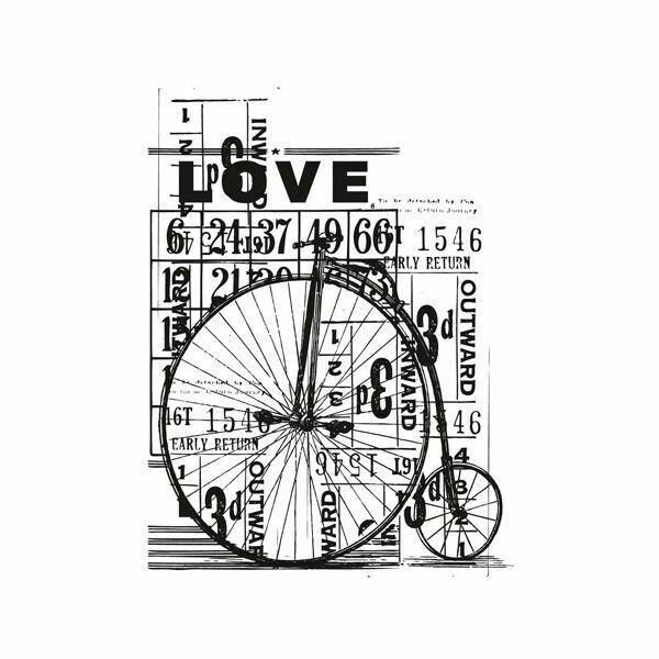 "Kaisercraft Vintage Clear Stamps 4""X2.75"" Love"