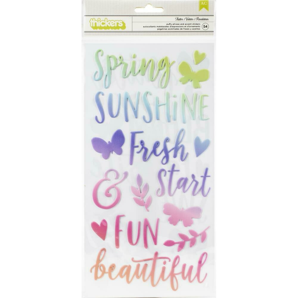 Pink Paislee Paige Evans Bloom Street Thickers Stickers 54/Pkg