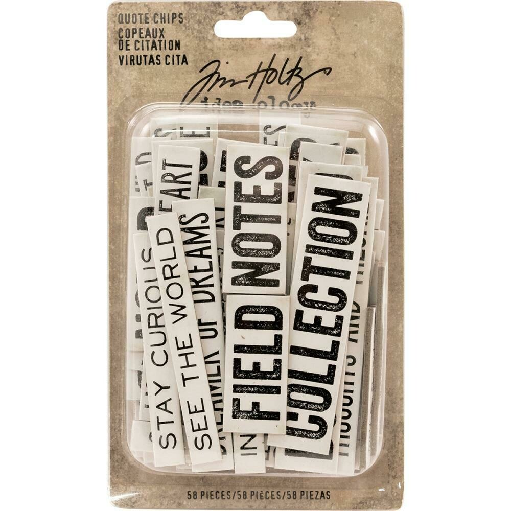 Tim Holtz Idea-Ology Chipboard Quote Chips