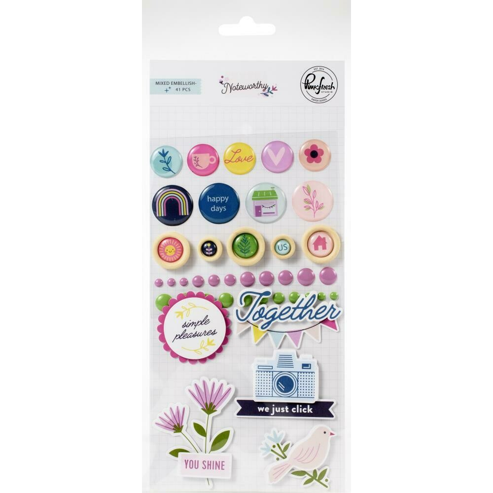 Pinkfresh - Noteworthy Mixed Embellishment Pack 41/Pkg