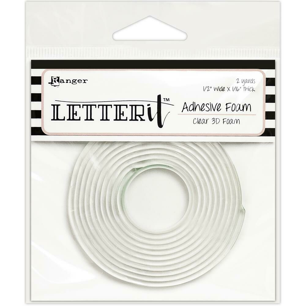 Ranger Letter It Adhesive Foam 3D Clear